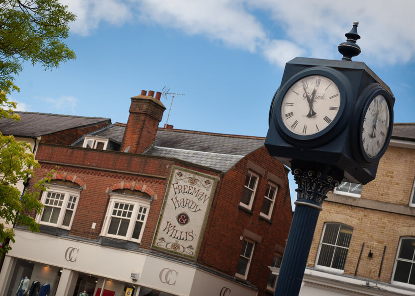 Hitchin Market Place clock