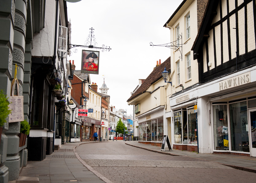 Hitchin Bucklersbury shops